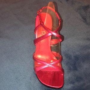 RSVP hot pink heels